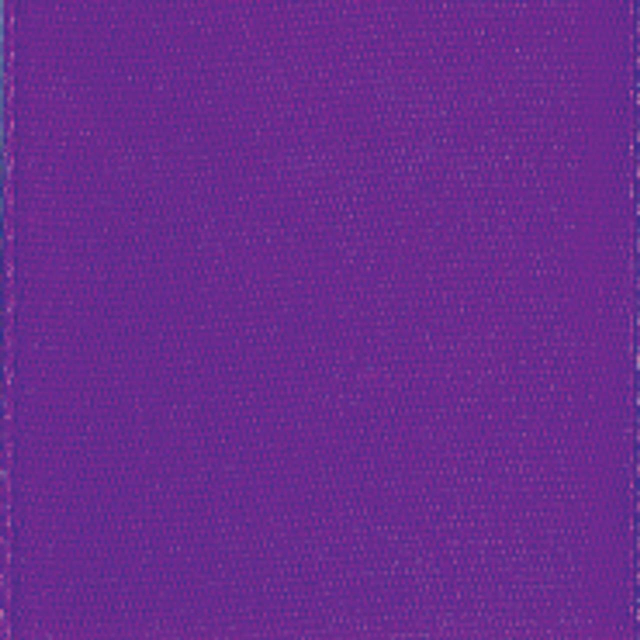 Purple Single Faced Satin Ribbon