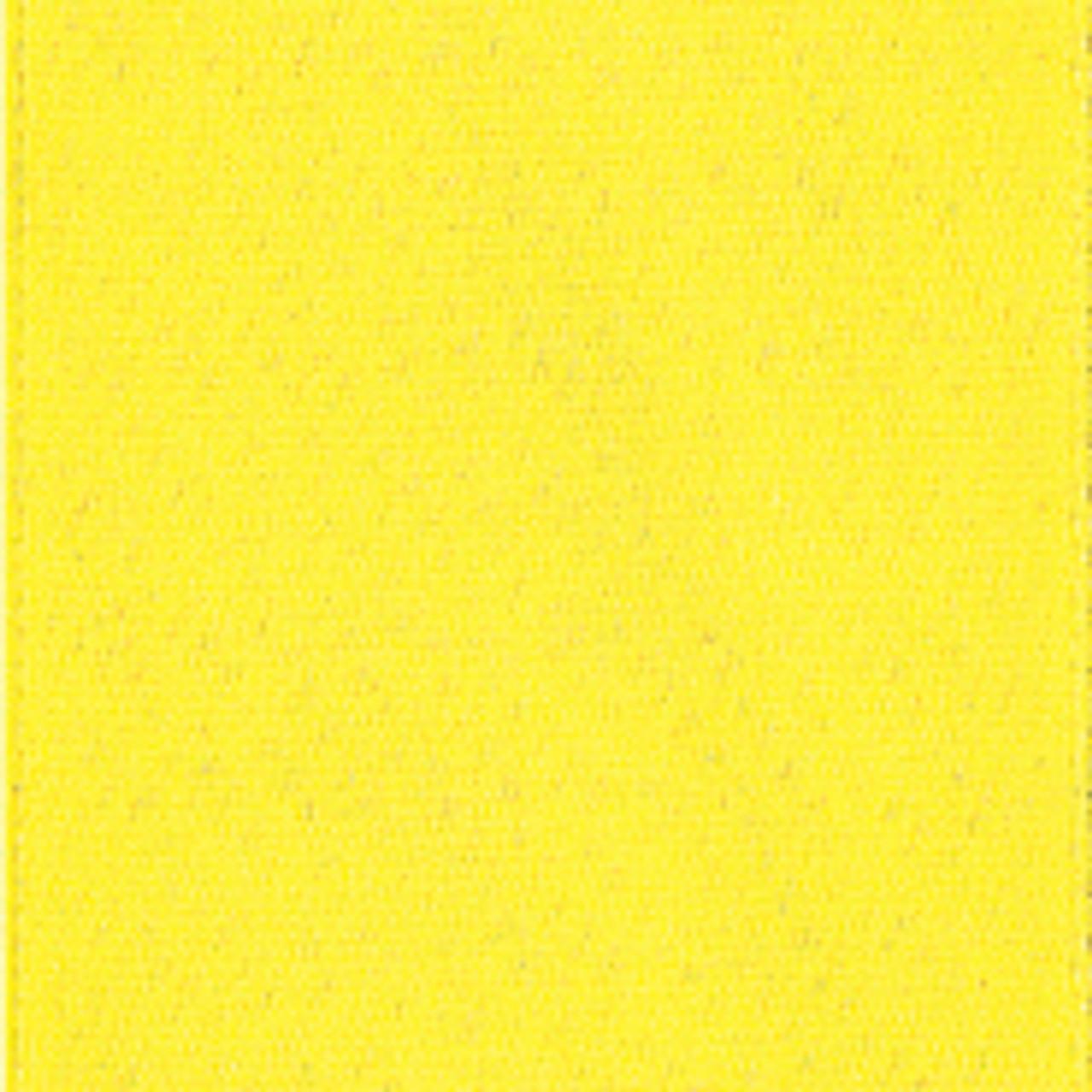 Lemon Single Faced Satin Ribbon