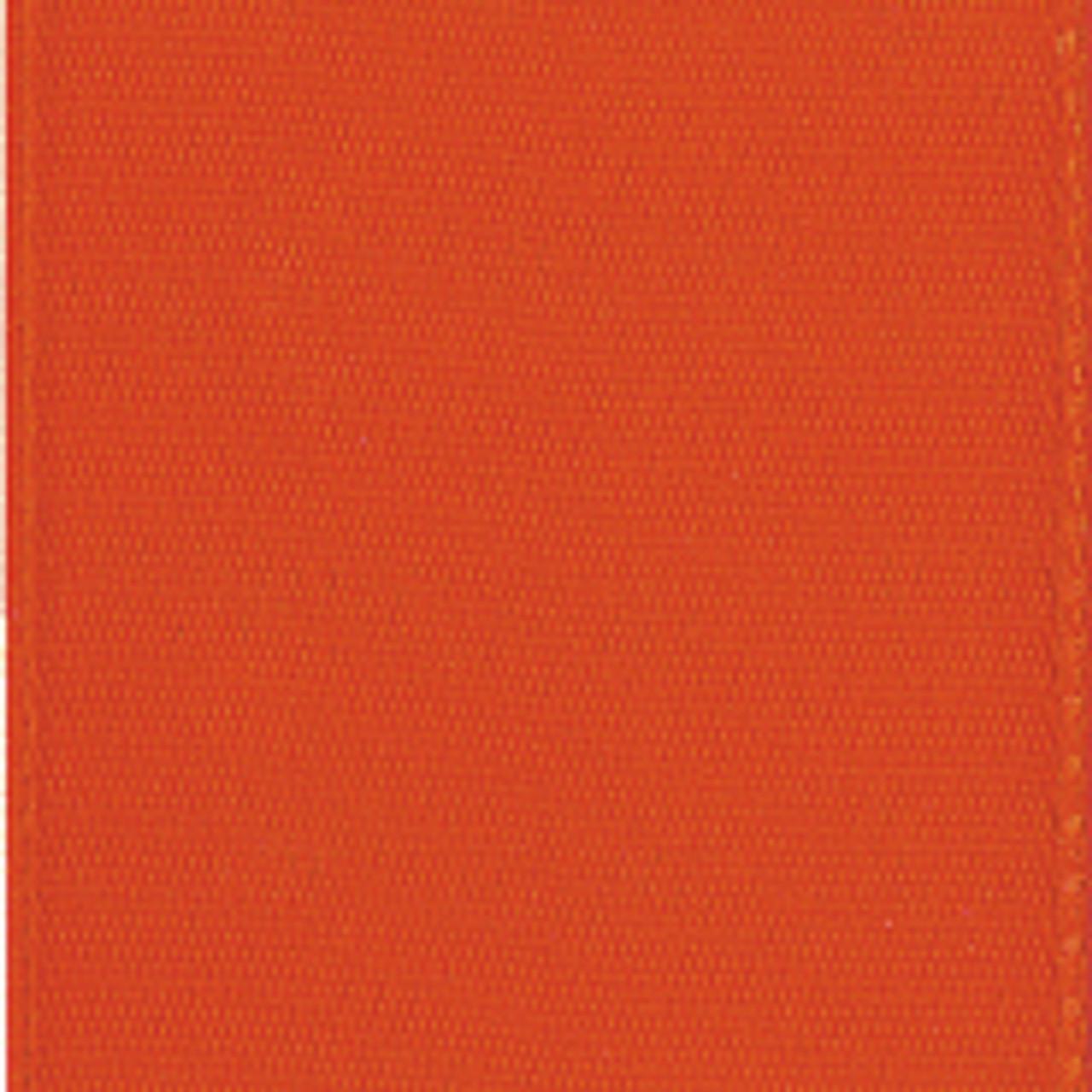 Autumn Orange Single Faced Satin Ribbon