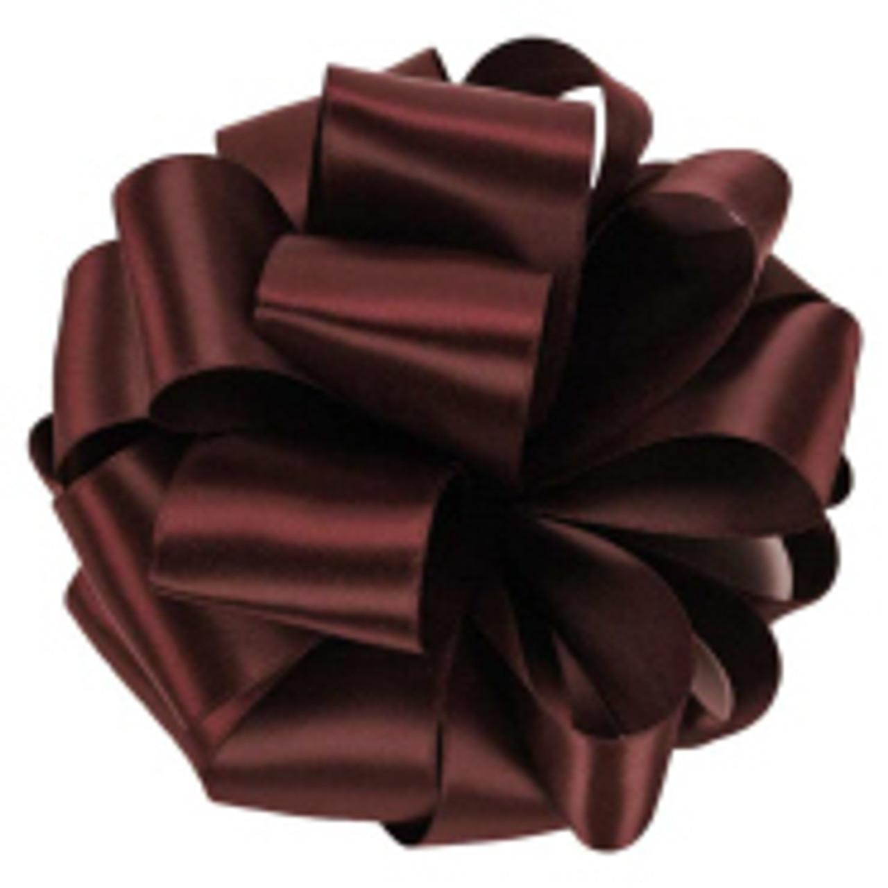 Burgundy Double Faced Satin Ribbon
