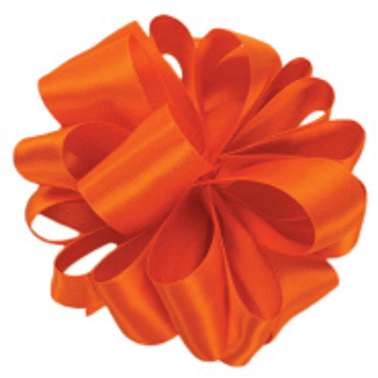Torrid Orange Double Faced Satin Ribbon