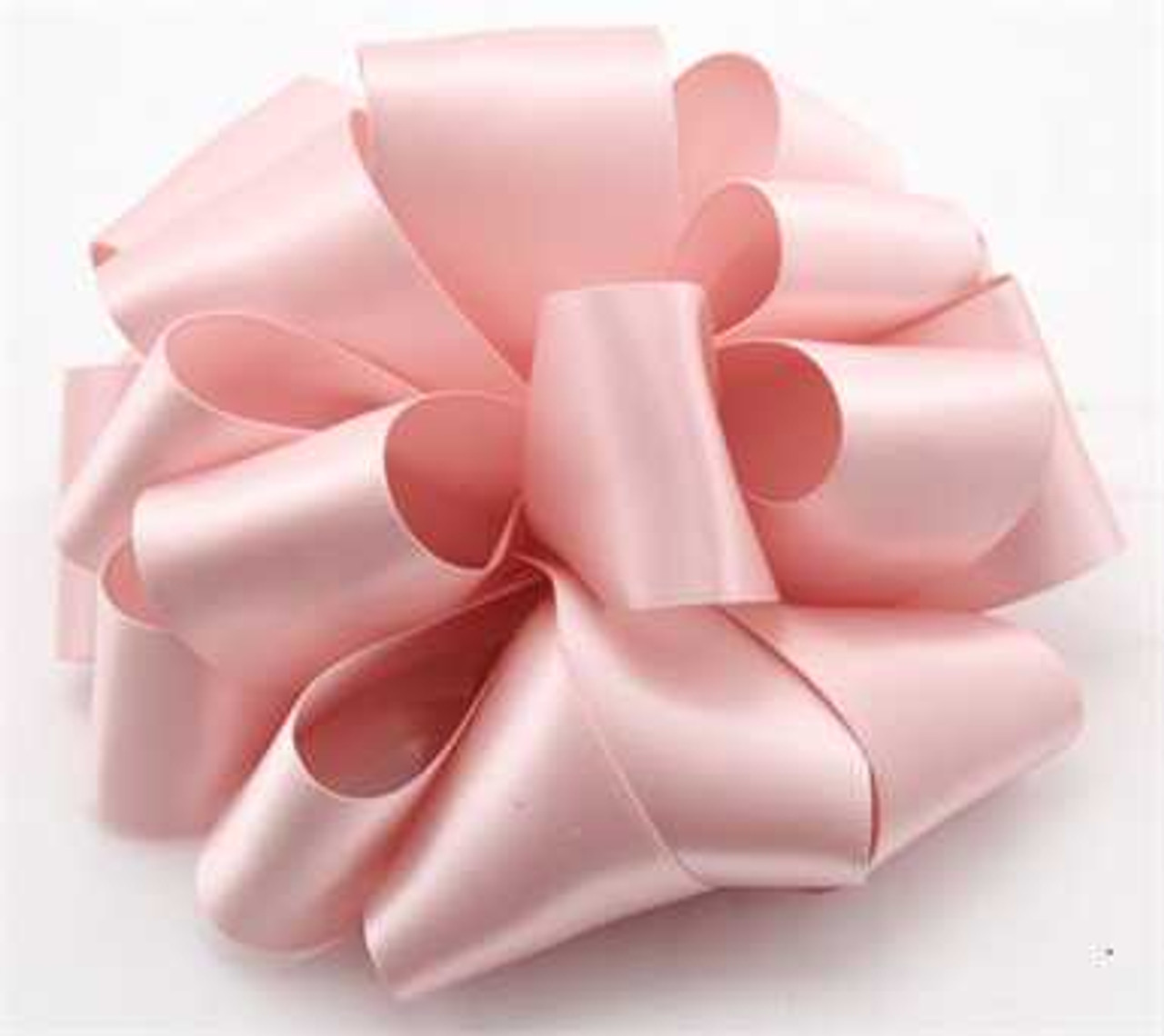 Pale Peach Double Faced Satin Ribbon
