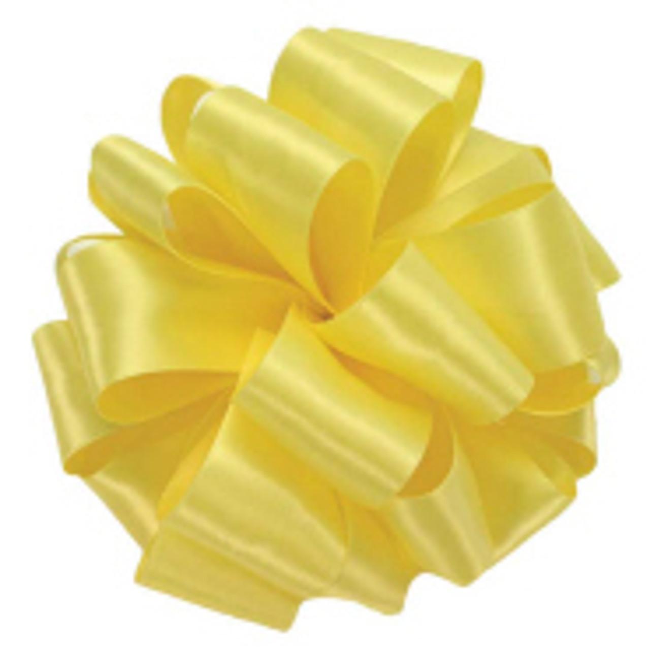 Lemon Double Faced Satin Ribbon