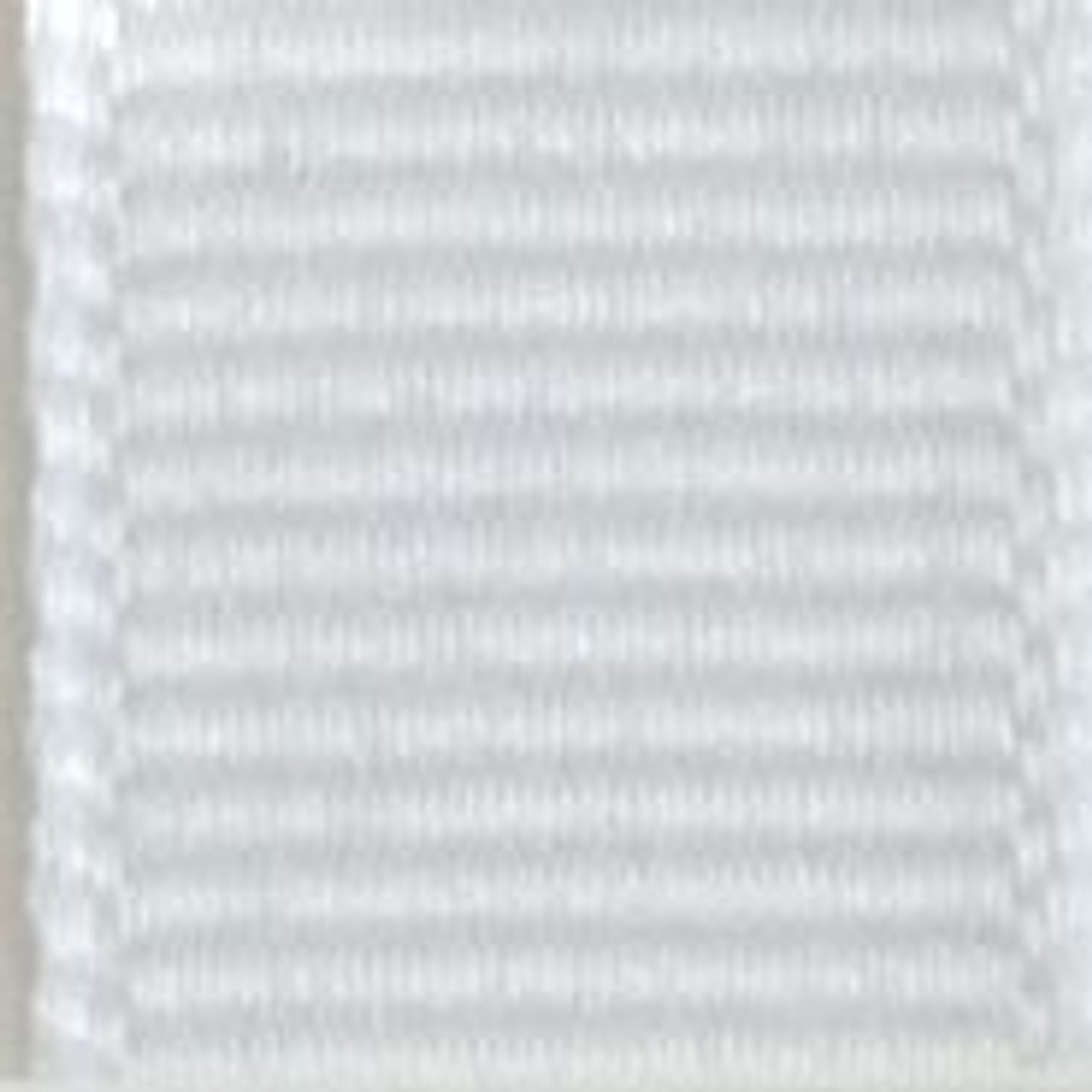 White Solid Grosgrain Ribbon