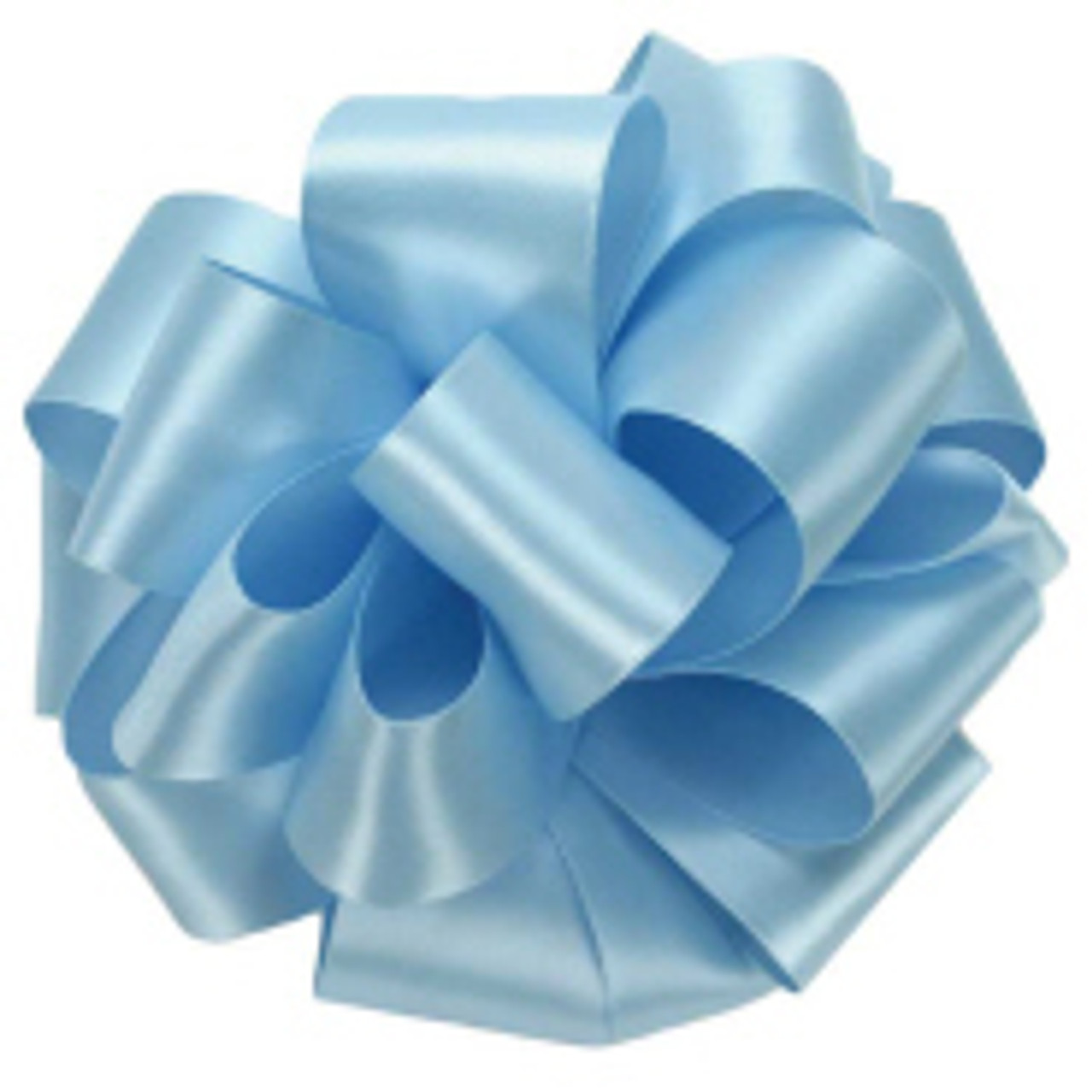 Light Blue Double Faced Satin Ribbon