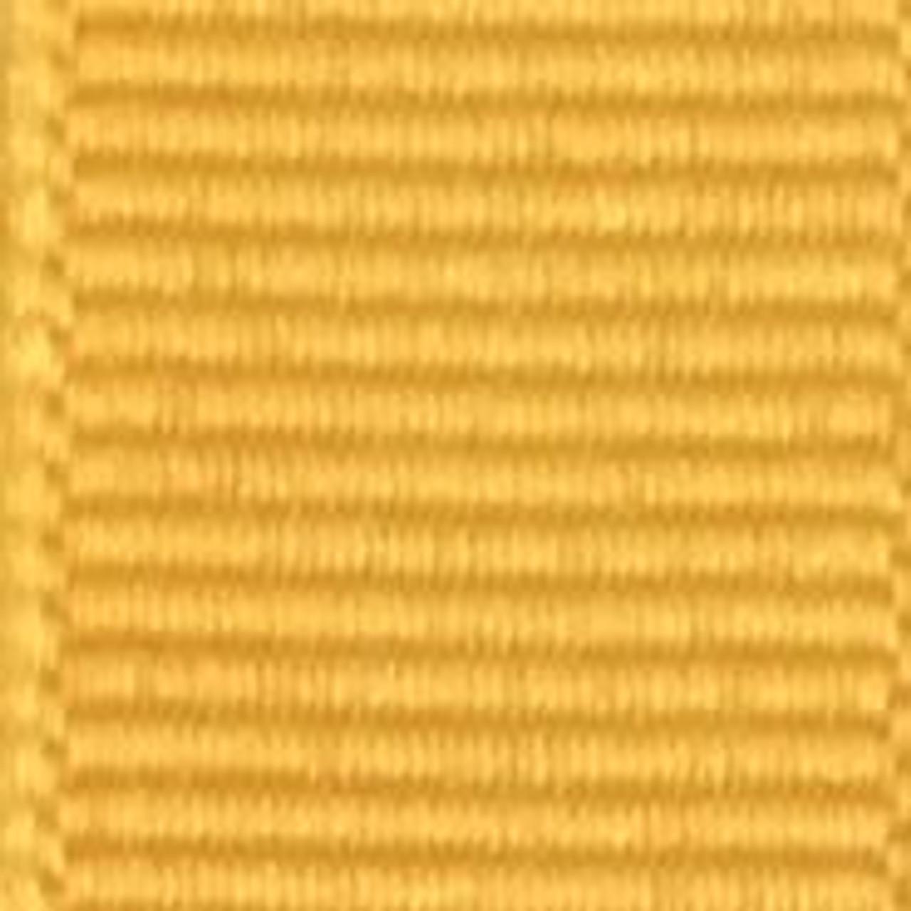 Yellow Gold Solid Grosgrain Ribbon