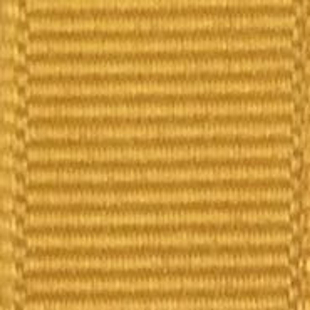 Gold Solid Grosgrain Ribbon