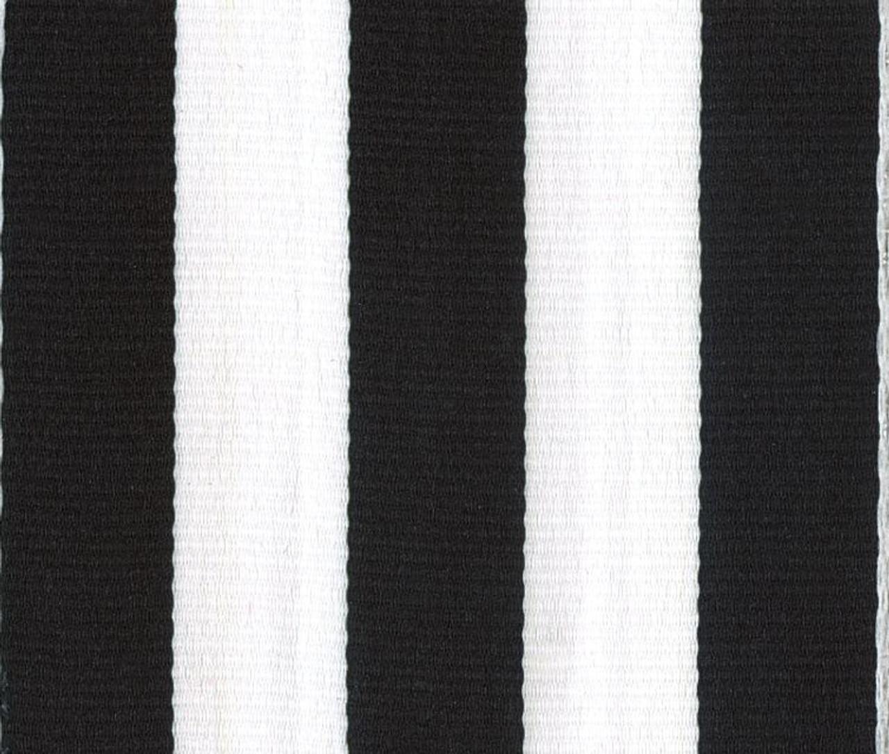 Black Carnival Striped Grosgrain