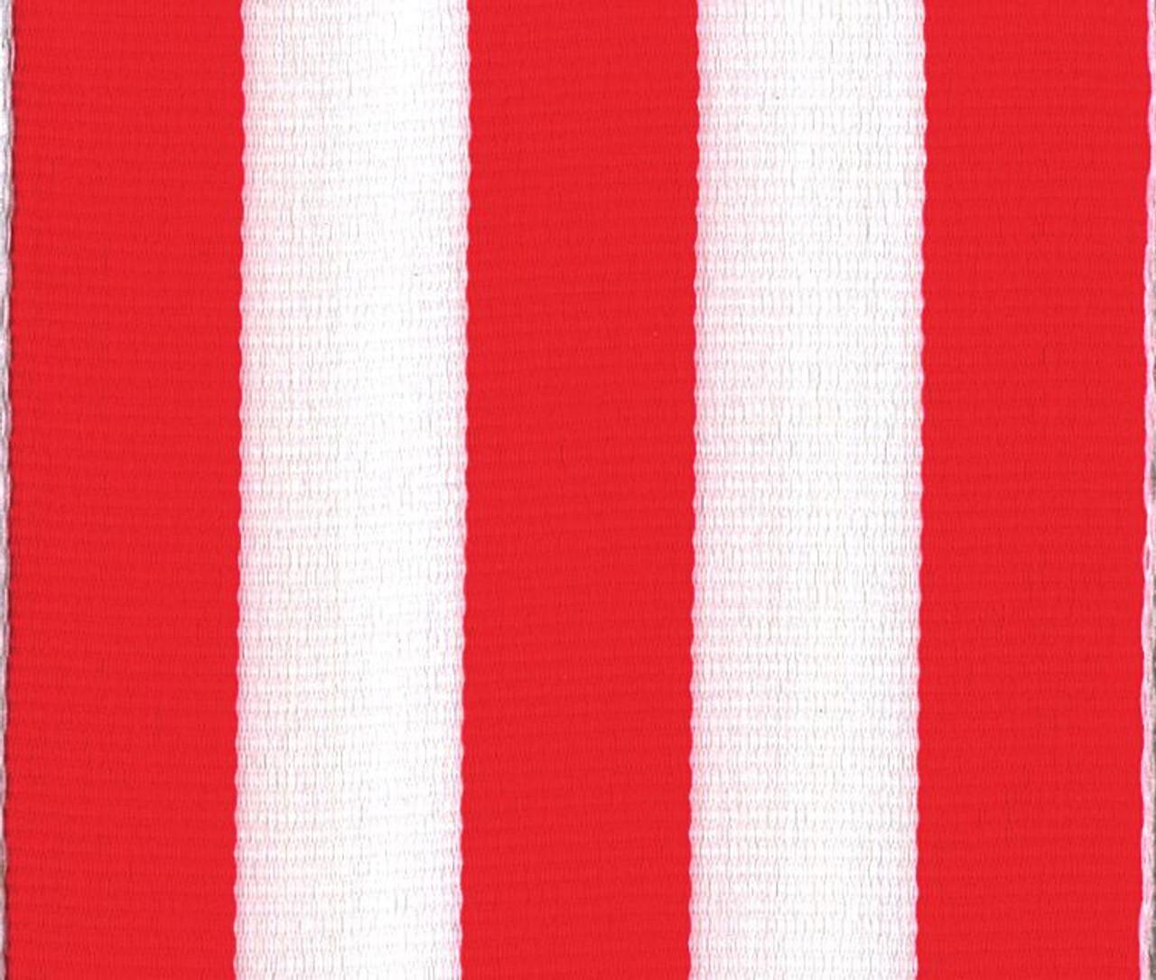Orange Carnival Striped Grosgrain