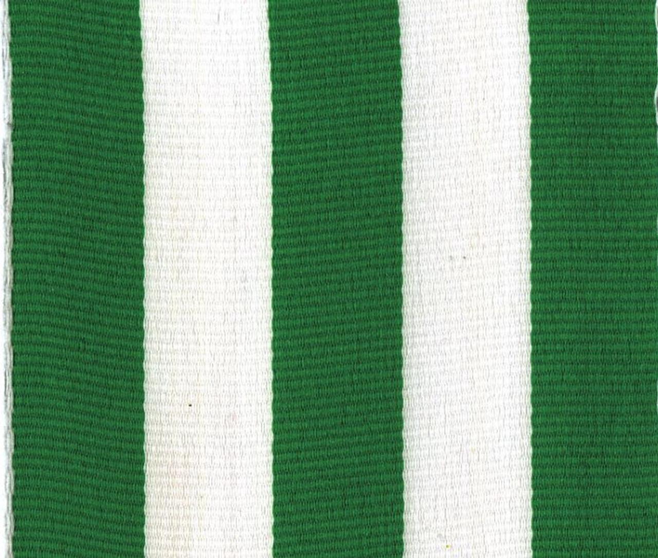 Wholesale Green Carnival Striped Grosgrain Ribbon