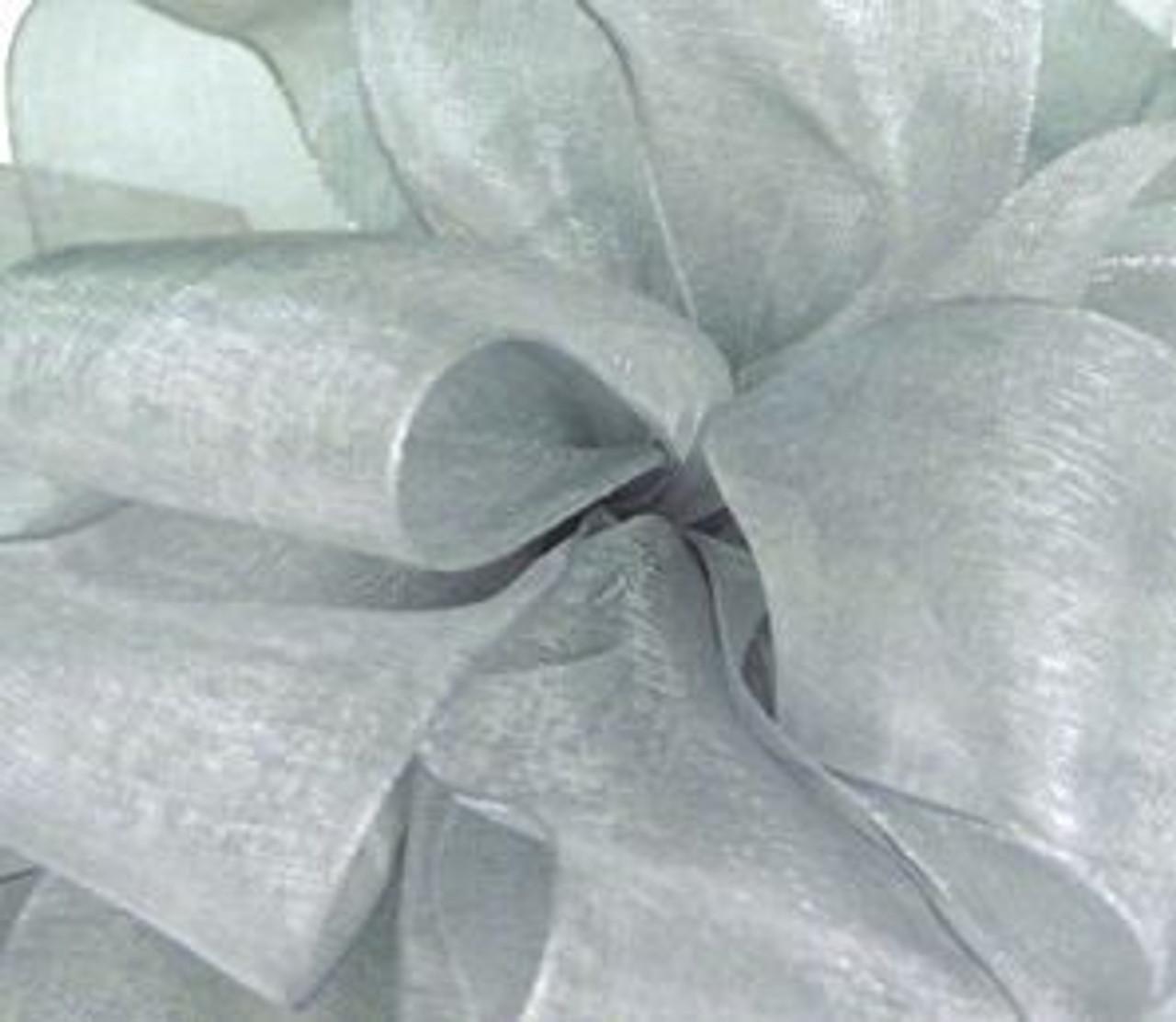 Silver Sheer Fabric.