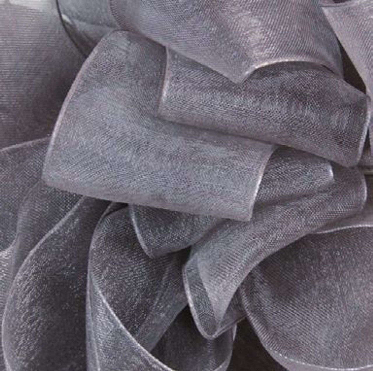 Pewter Sheer Fabric