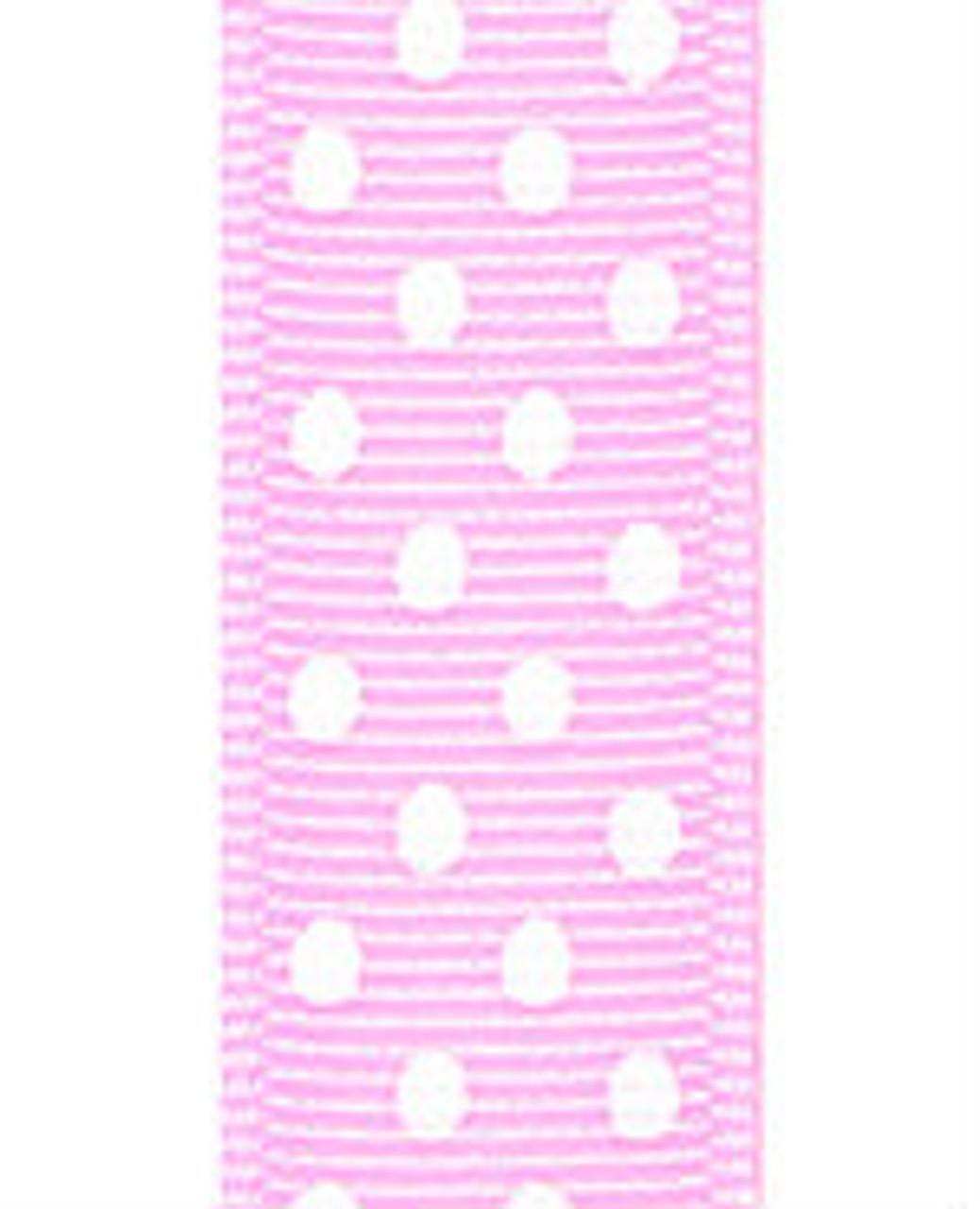 Light Pink / White Grosgrain Confetti Dots