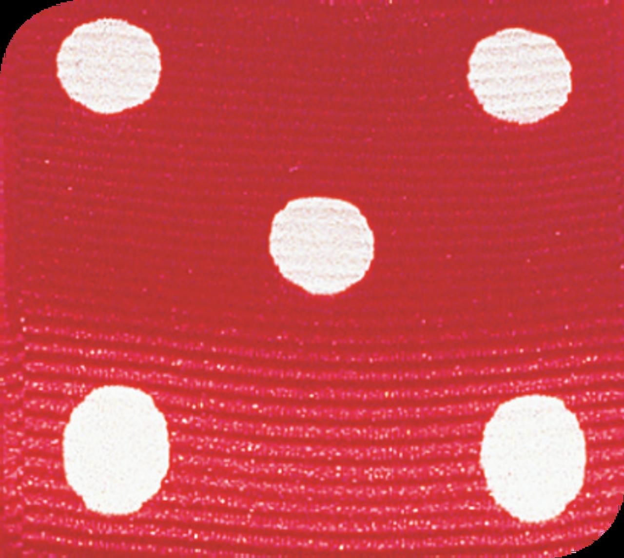 Red & White Grosgrain Polka Dots