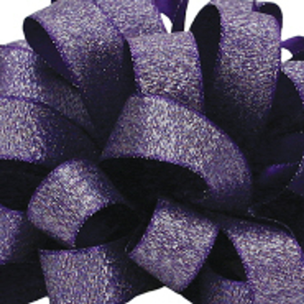 Luxe Regal Purple Satin Glitter Ribbon