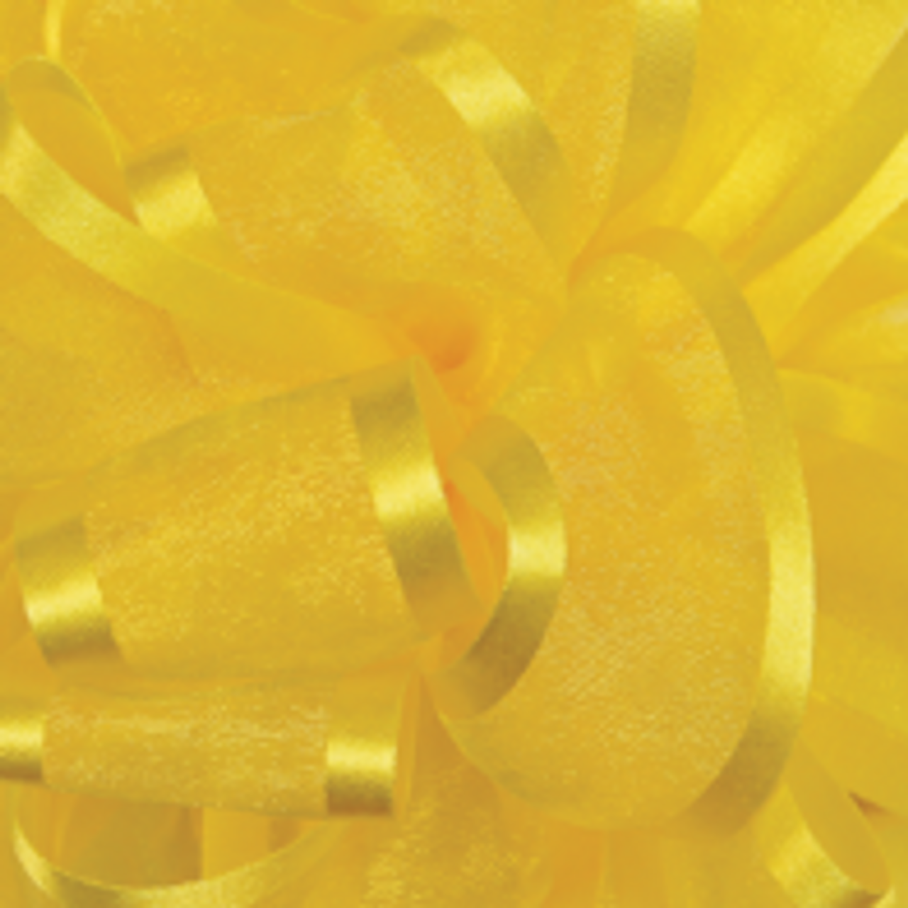 Yellow Pirouette Sheer andSatin Ribbon
