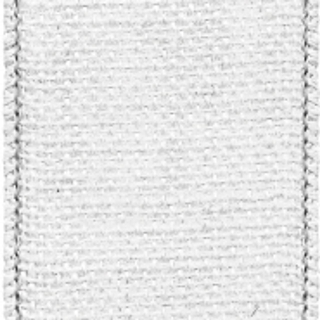 White Wired Edge Burlap Ribbon