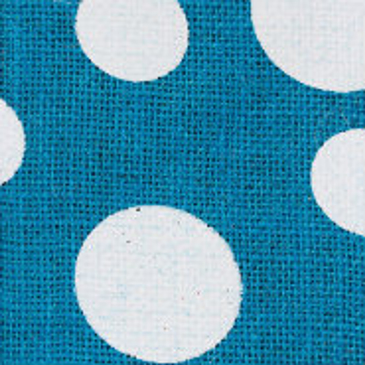 Turquoise Wired Edge Burlap Dots