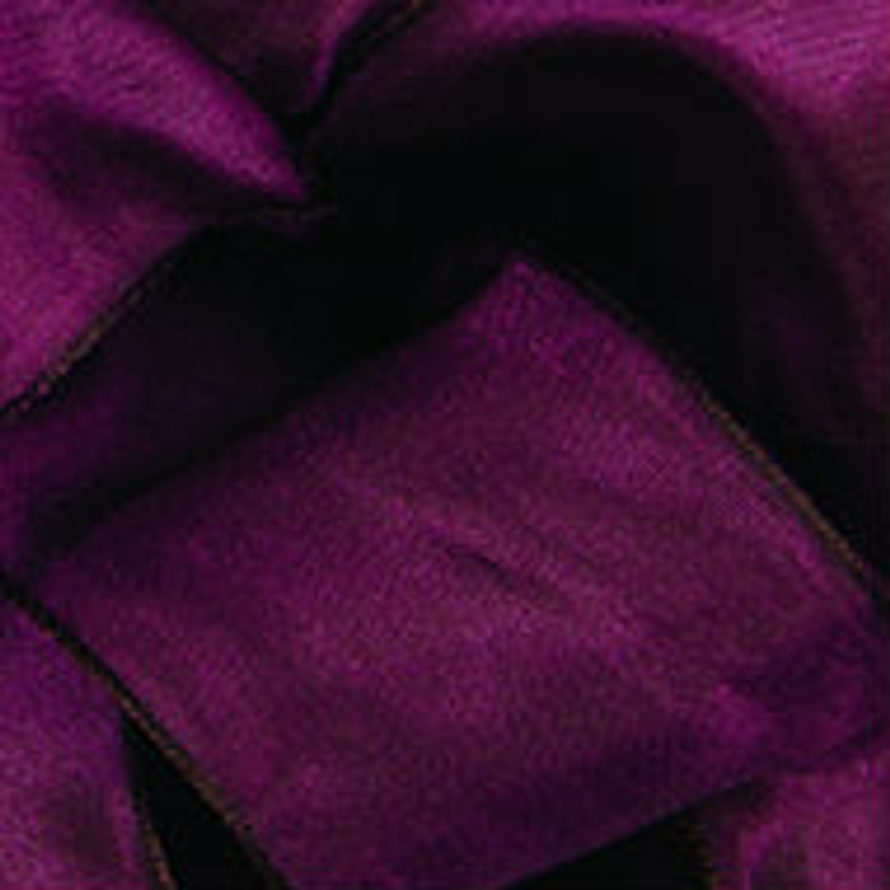 Claret Wired Woven Ribbon