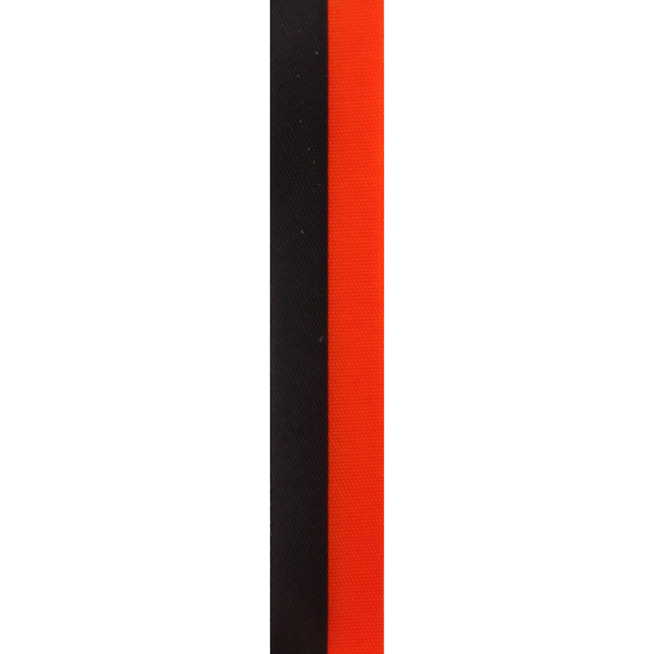 Orange and Black Vertical Striped Ribbon