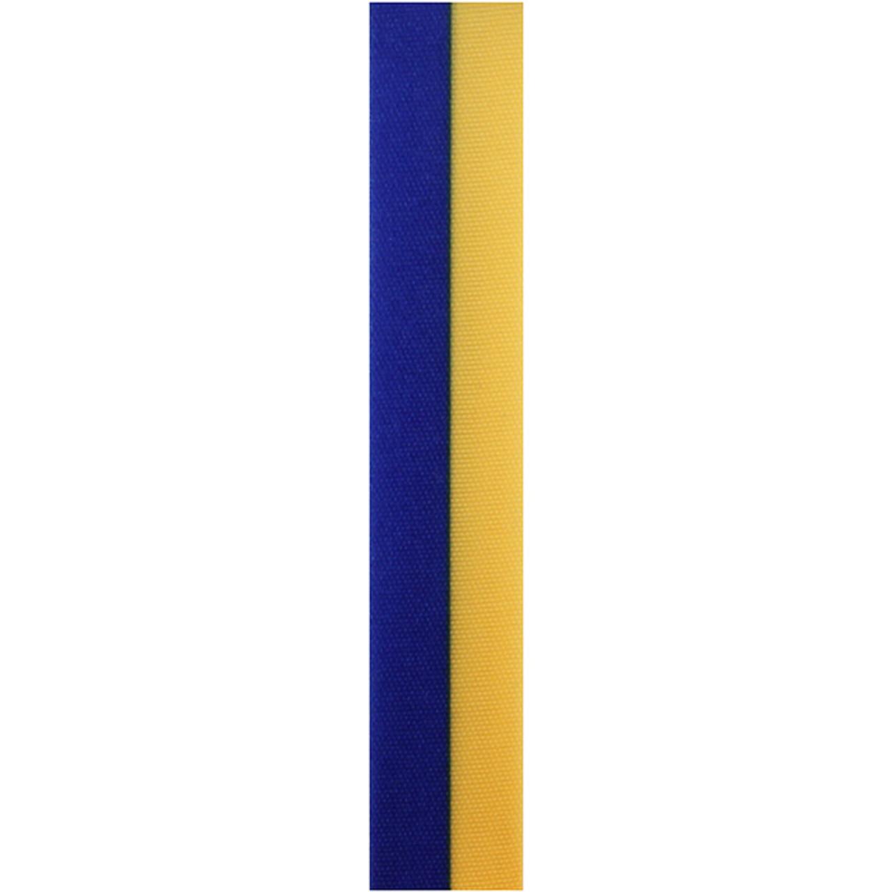 Royal and Gold Vertical Striped Ribbon