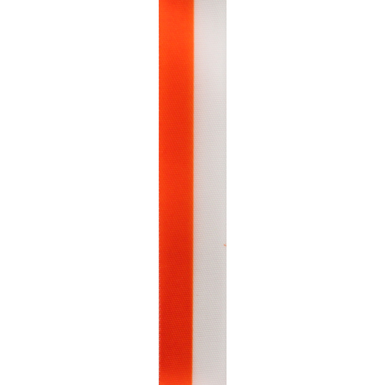 Orange Vertical Striped Ribbon