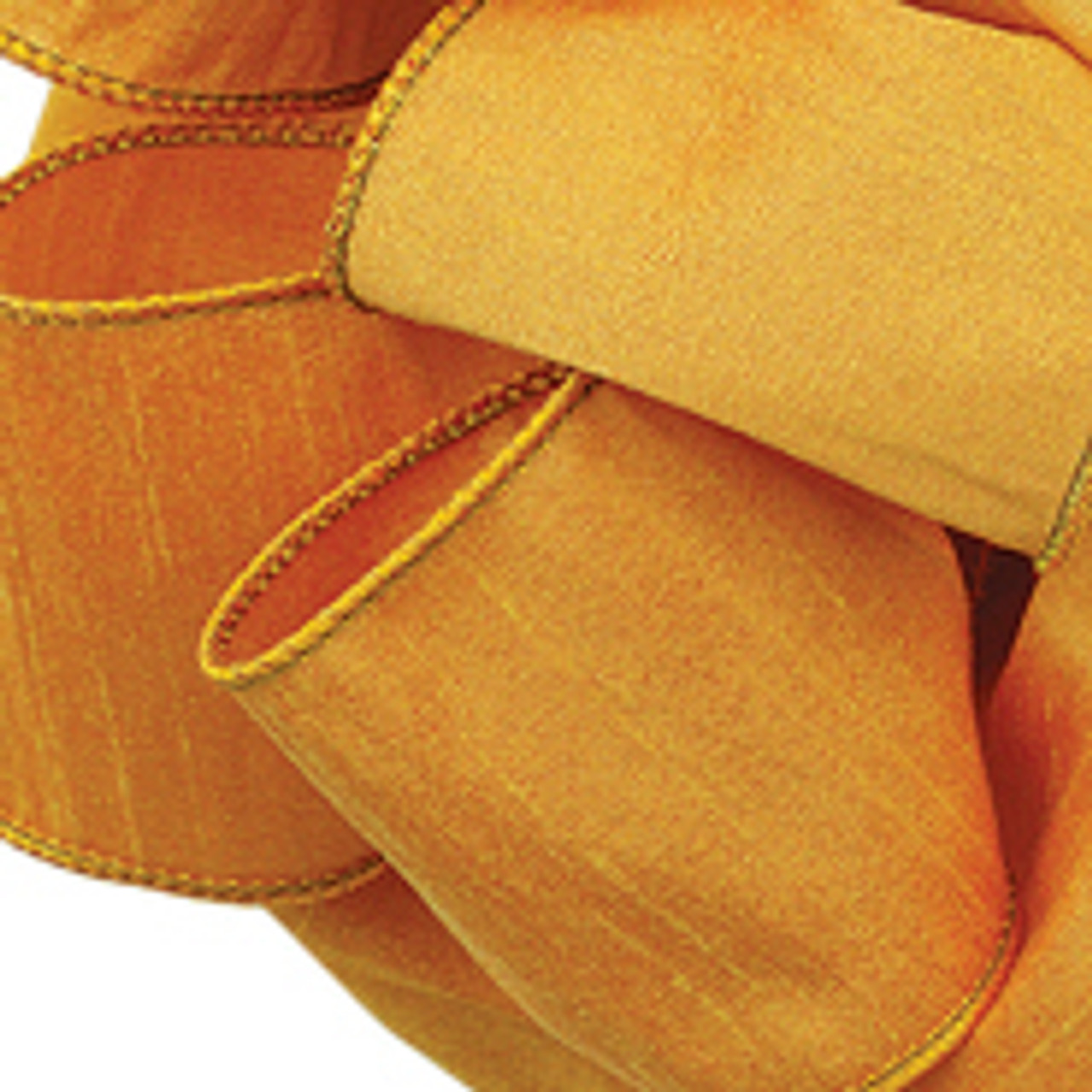 Gold Anisha Wired Edge Ribbon