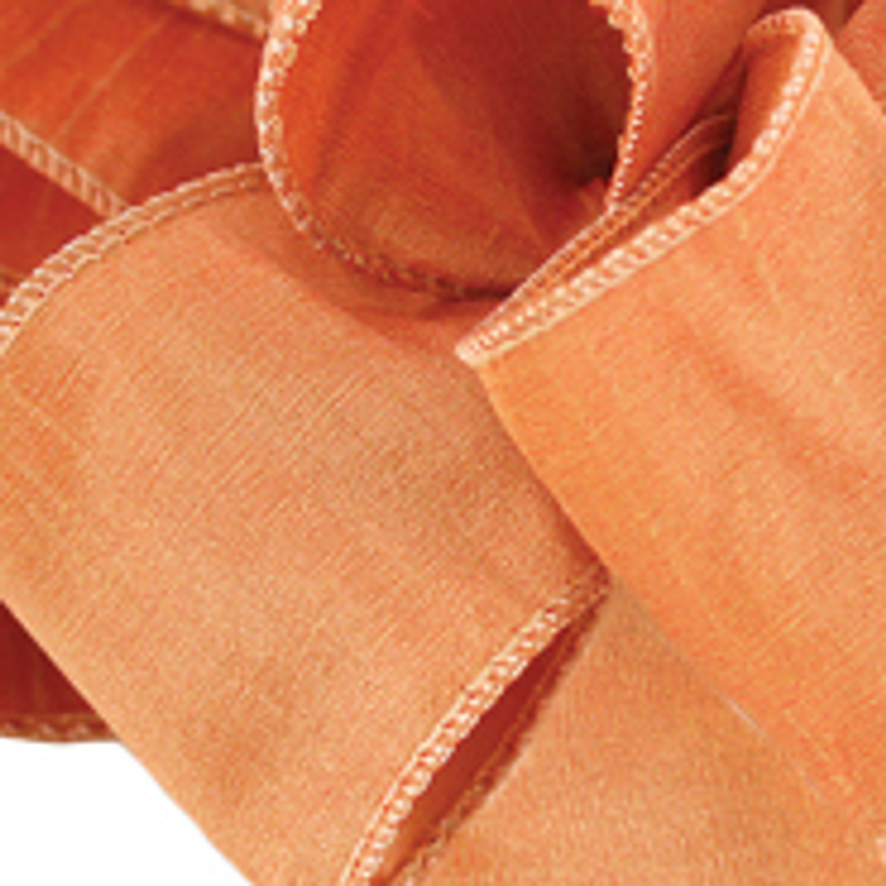 Terra Cotta Anisha Wired Edge Ribbon