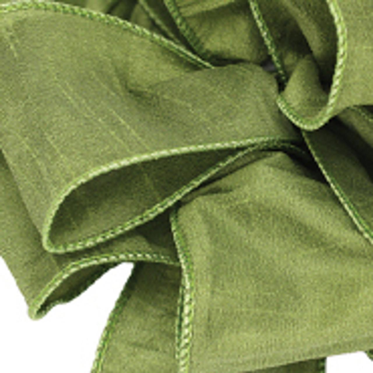 Chartreuse Anisha Wired Edge Ribbon