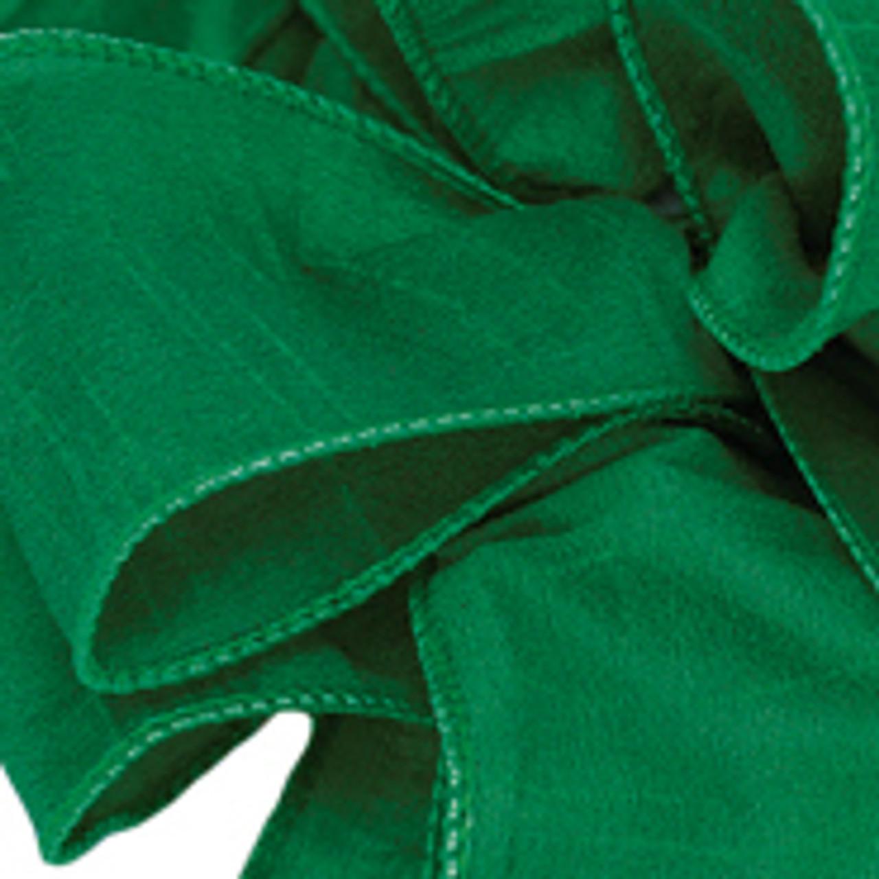 Forest Green Anisha Wired Edge Ribbon