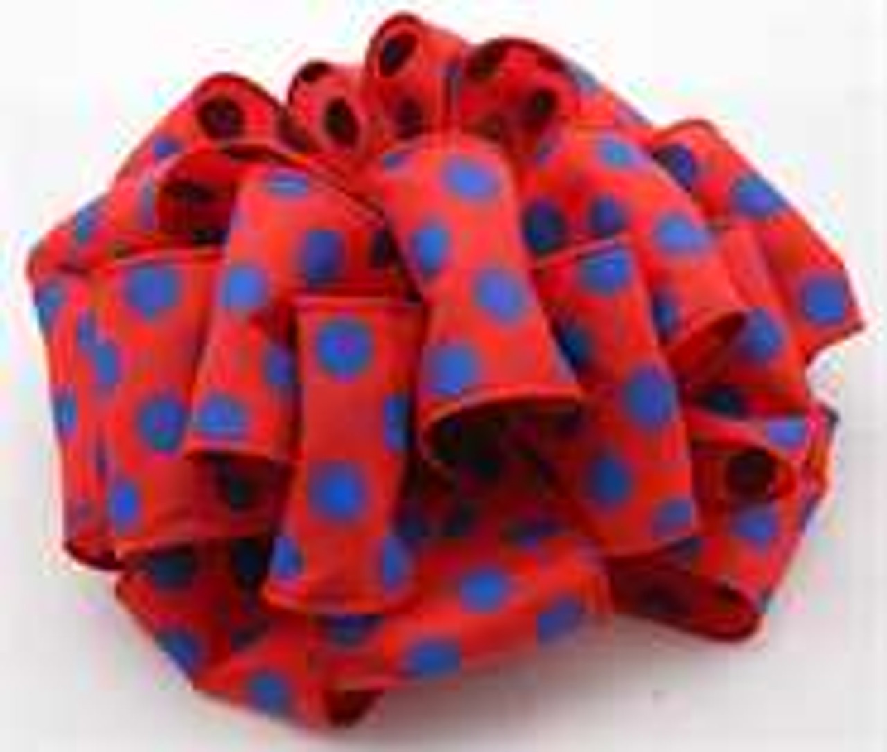 Blue and Red Dot Wired Ribbon