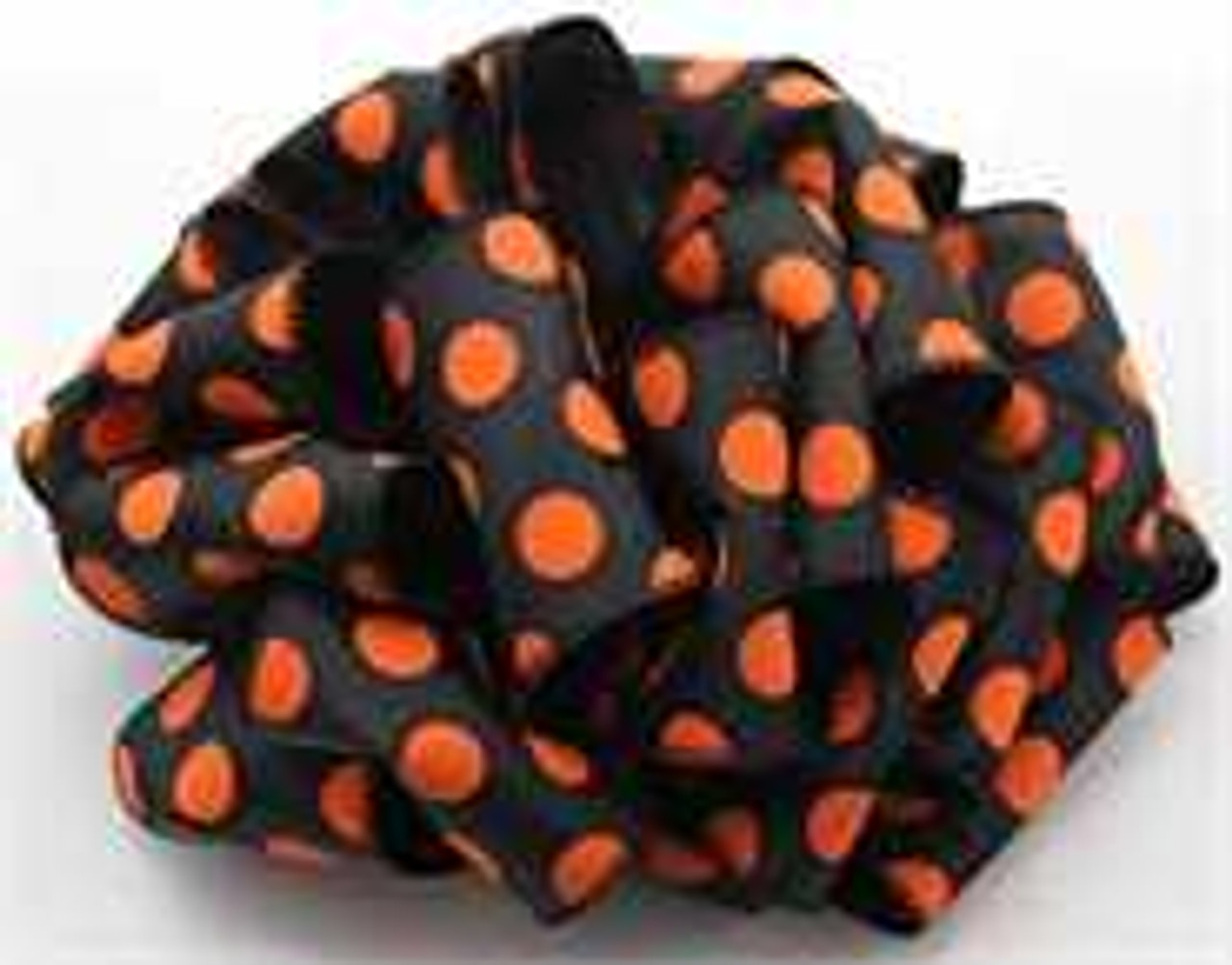 Orange and Black Dot Wired Ribbon
