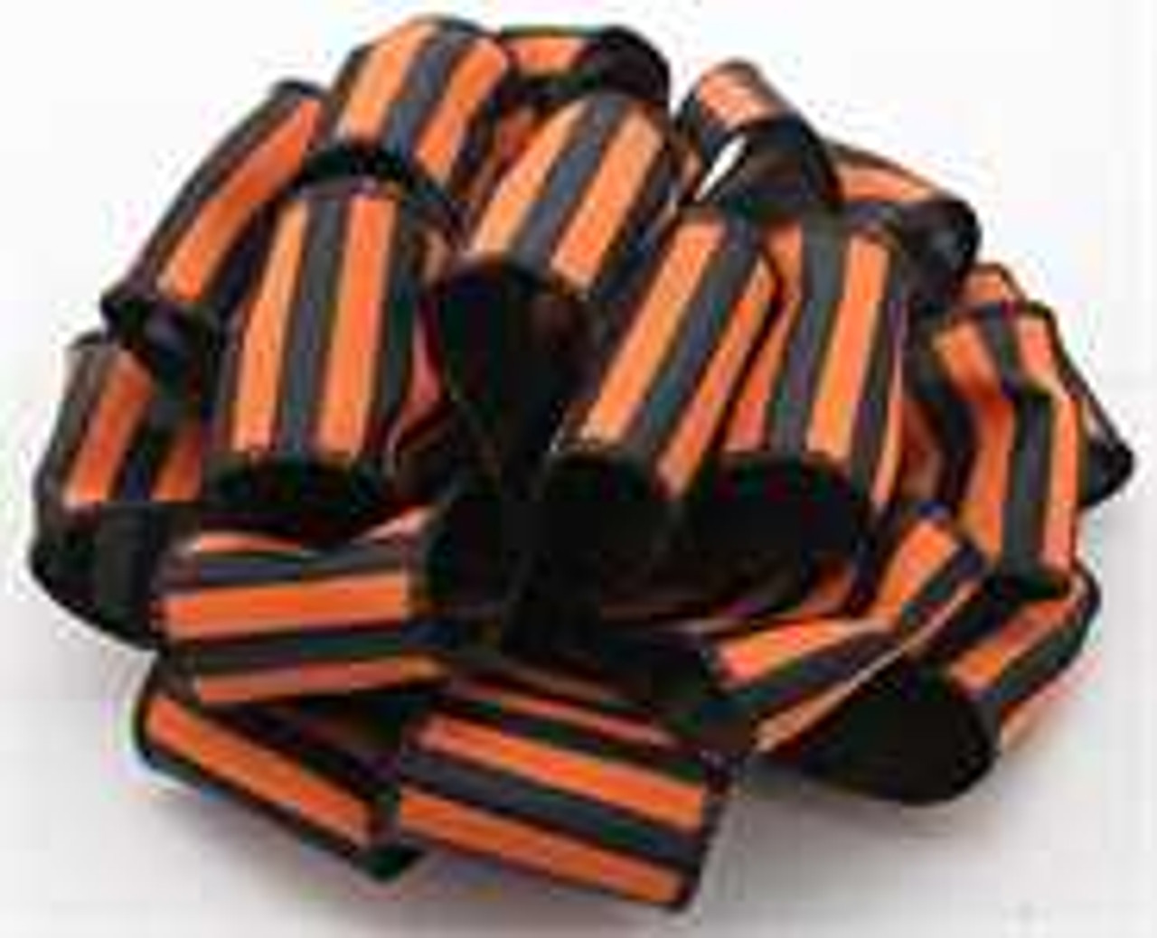 Orange and Black Striped Wired Ribbon