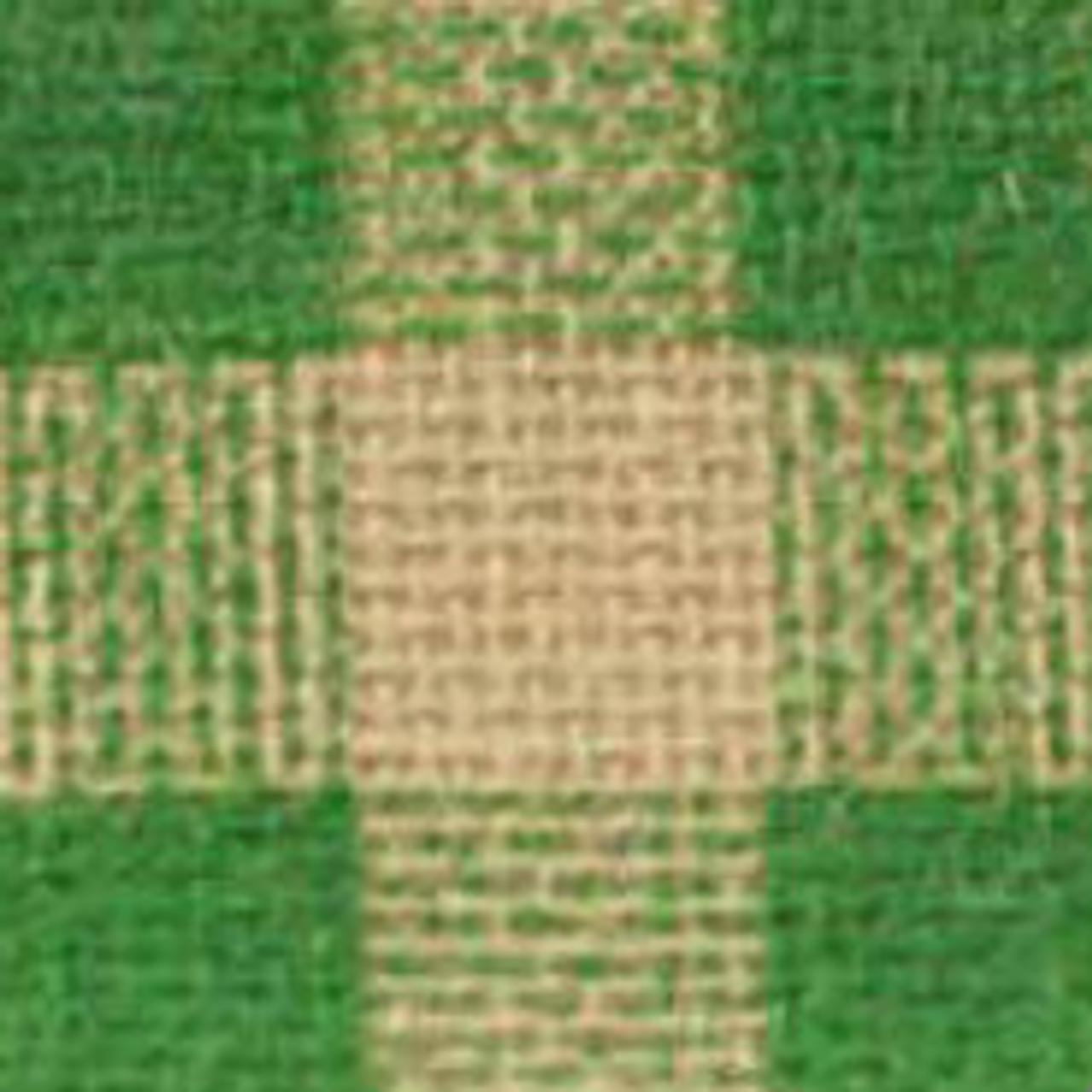 Green Burcheck Ribbon