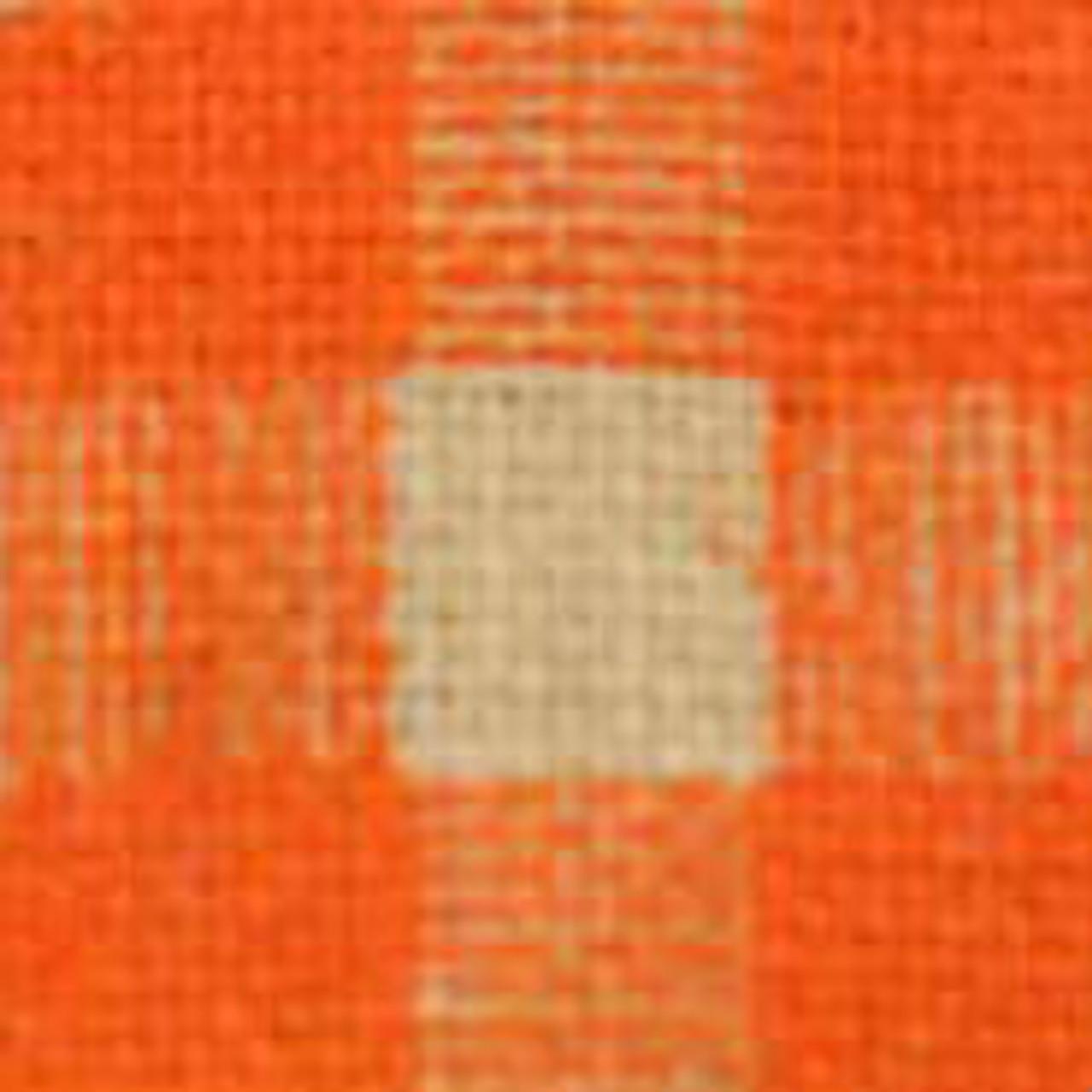 Orange Burcheck Ribbon