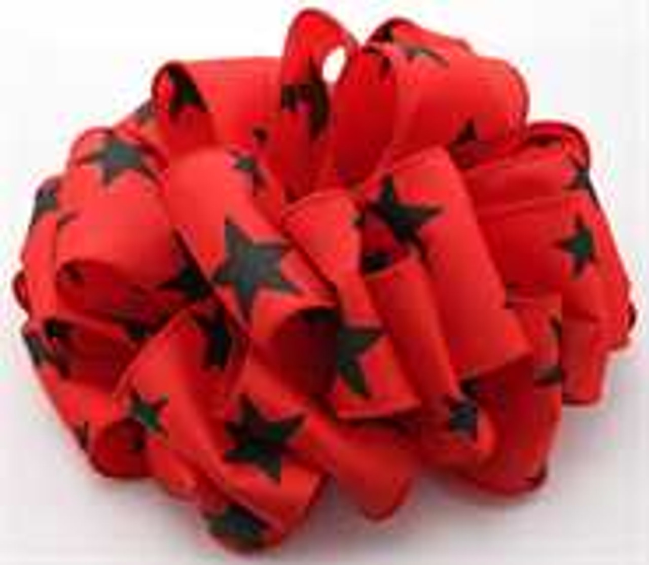 Black and Red Star Wired Ribbon