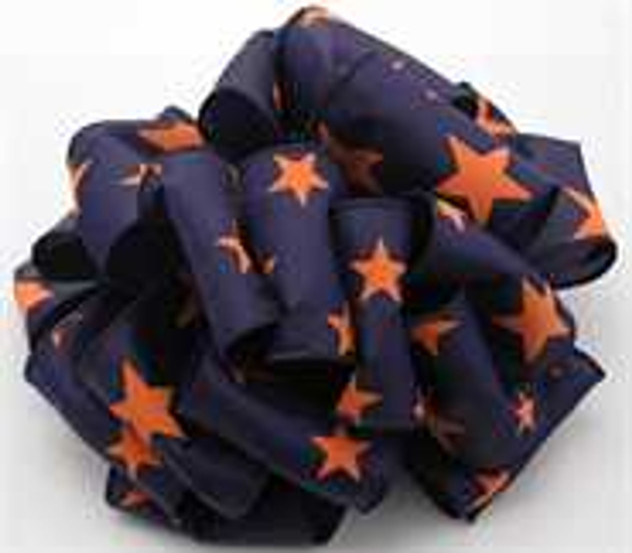 Orange and Navy Star Wired Ribbon