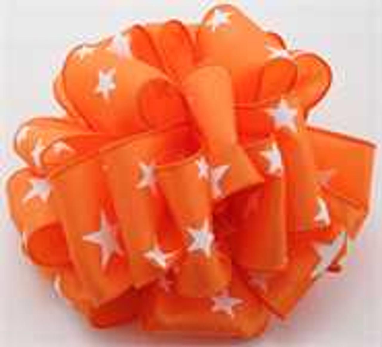 Orange Star Wired Ribbon