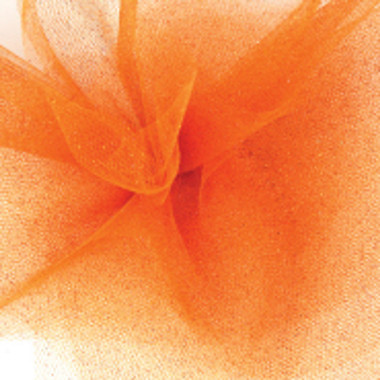 Sparkle Tulle Fabric - Orange