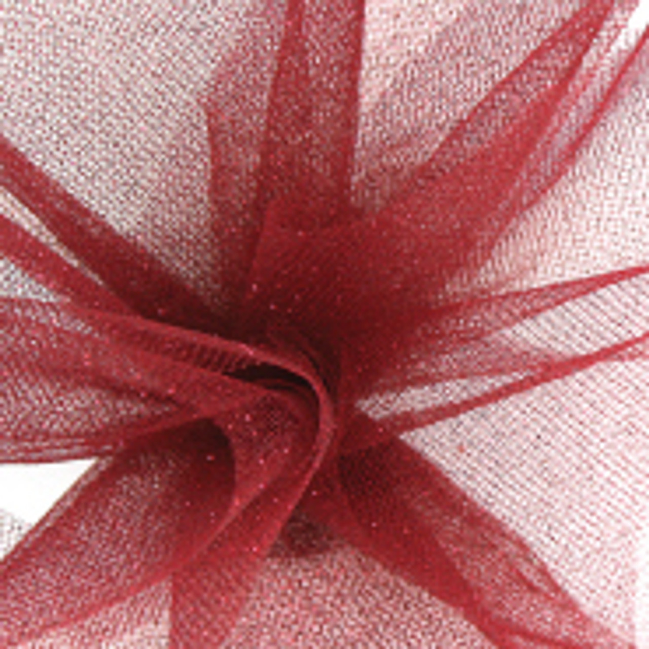 Sparkle Tulle Fabric - Burgundy