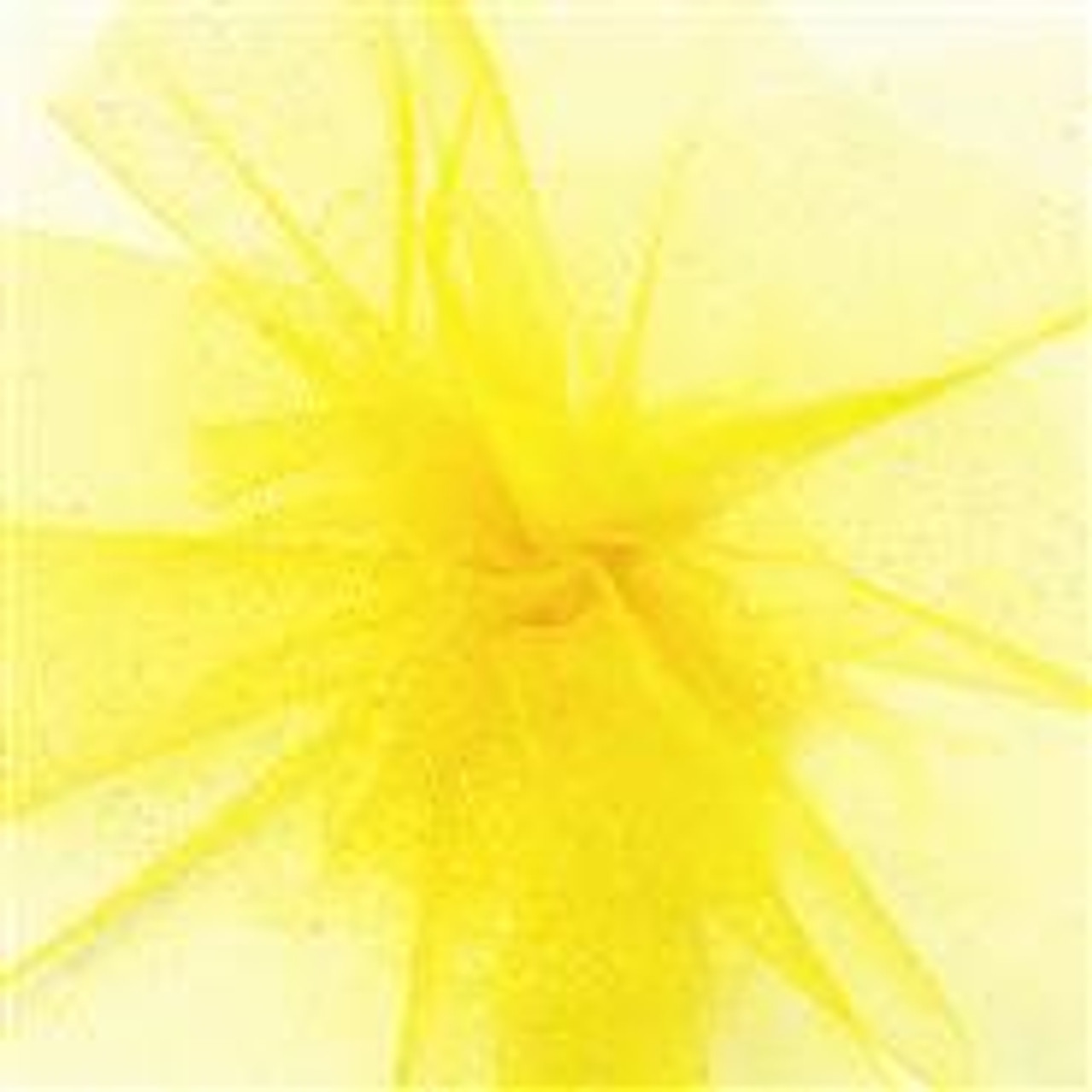 Sparkle Tulle Fabric - Daffodil