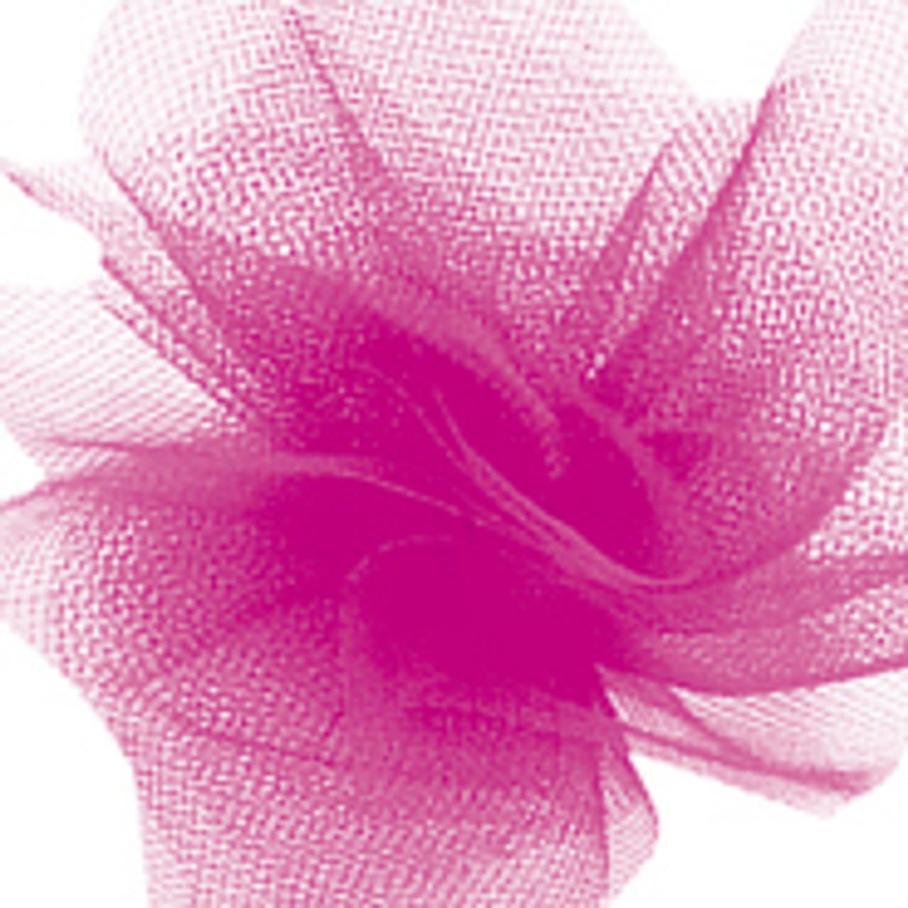 Solid Tulle Fabric - Fuchsia