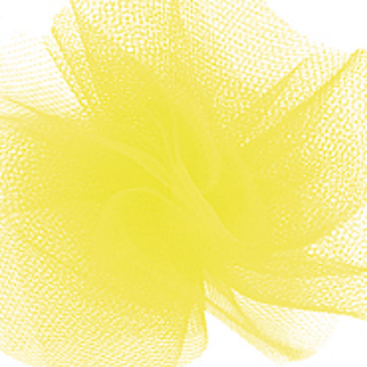 Solid Tulle Fabric -Yellow
