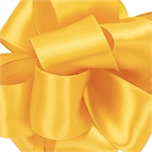 Yellow Chiffon Contessa Wired Satin Ribbon