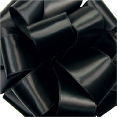 Black Wired Satin Ribbon