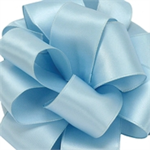 Light Blue Wired Satin Ribbon