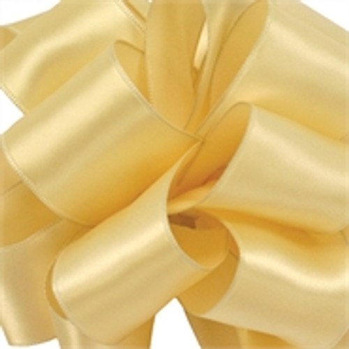 Buttercream Wired Satin Ribbon