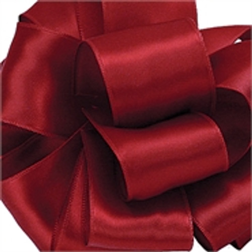 Scarlet Wired Satin Ribbon