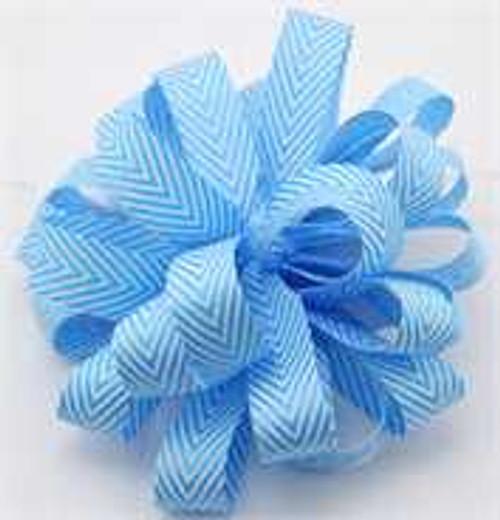 Kessie Twill Chevron Ribbon Turquoise