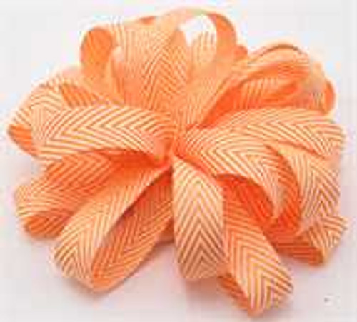 Kessie Twill Chevron Ribbon Orange